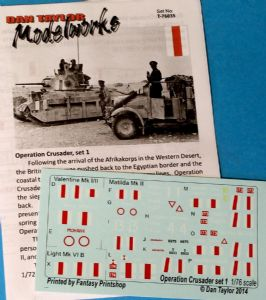 Operation Crusader, Set 1
